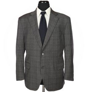 Peter Millar 100% Wool Sport Coat 42S gray Checks
